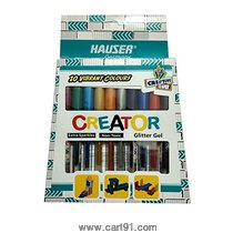 Hauser Creator 10 Vibrant Colours Glitter Gel Set