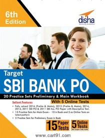 SBI Bank PO 20 Practice Sets Preliminary And Main Workbook