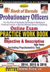 Bank Of Baroda PO Online Exam Practice Work Book