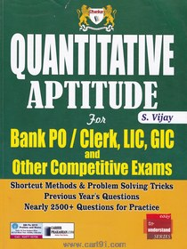Quantitive Aptitude For Bank PO Clerk LIC GIC And Other Competitive Exam