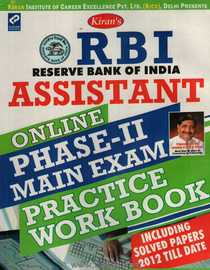 Reserve Bank Of India Assistant Phase II Main Exam Practice Work Book