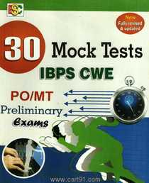 30 Mock Test IBPS CWE PO MT Preliminary Exam