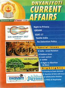 Dnyanjyoti Current Affairs Sept 2017