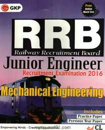 RRB Junior Mechanical Engineering Recruitment Examination 2016