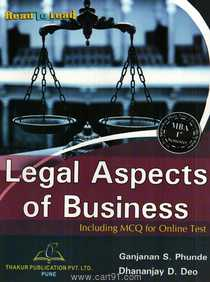 Legal Aspects Of Business Including MCQ For Online Test