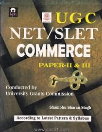 UGC NET SLET Commerce Paper II And III