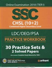 SSC CHSL 10 Plus 2 LDC DEO PSA Practice Workbook