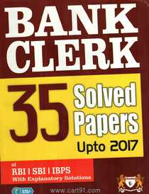 Bank Clerk 35 Solved Paper Upto 2017