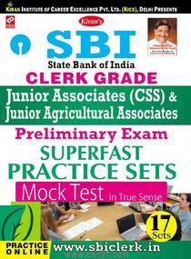 SBI Clerk Grade Junior Associates (CSS) And Preliminary Exam Superfast Practice Sets