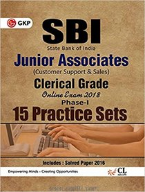 SBI Junior Associates Clerical Grade Phase I 15 Practice Sets (English)