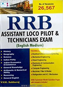 RRB Assistant Loco Pilot Technicians Exam 2018