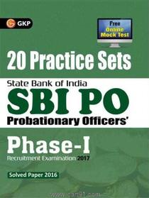 SBI PO Probationary Officers Phase I 20 Practice Sets (English)