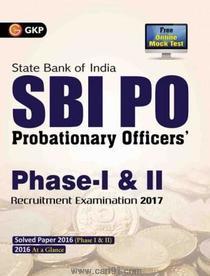 SBI PO Probationary Officers Phase I And II Recruitment Examination