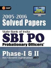SBI PO Probationary Officers Phase I And II Solved Papers