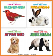 Dreamland Publications Activity Books and Touch And Feel Borad Book Set