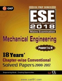 ESE 2018 Mechanical Engineering Paper I And II