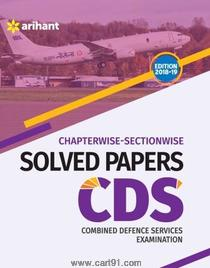 Combined Defence Services Examination Chapterwise Solved Papers