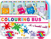 Colouring Bus