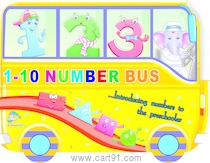1 to 10 Number Bus
