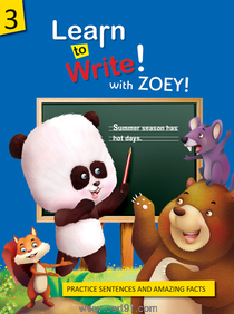 Koral Books Learn to Write with Zoey 3